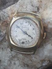 Reloj Cronógrafo de servicios rara años 30 Mono empujador para piezas de repuesto o reparación piezas