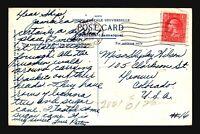 Jamaica 1938 Postcard to USA - Z17650