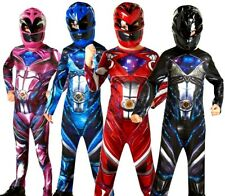 Child POWER RANGERS Movie 17 Superhero Licensed Fancy Dress Costume Boys Girl