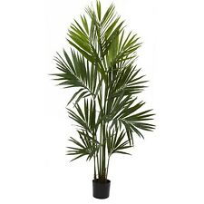 Nearly Natural 5462 - 7' Kentia Palm Silk Tree - Green