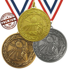SWIMMING MEDAL 50mm EMBOSSED TOP QUALITY, WITH FREE RIBBON, GOLD SILVER BRONZE