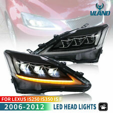 VLAND LED Feux Avant pour【LEXUS IS200D IS300 IS250 IS350】2006-12 Dynamique Phare