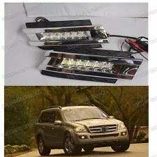2x White LED DRL Daytime Fog Light Run lamps For Benz GL450 2006-2009