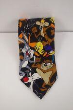 Looney Tunes Mania Necktie Tie Bugs Taz Daffy Sylvester Tweety Wile Road Runner
