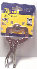 "Vise-Grip 4"" Locking C-Clamp with Swivel Tips 4SP"