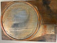 Vintage Letterpress Brass Amp Metal Circle On Wooden Printing Block 7