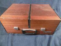 tourne disque platine vinyle portable hifivox thomson bois ancien rare vintage