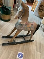 VINTAGE / ANTIQUE SMALL WOODEN ROCKING HORSE Height 25""