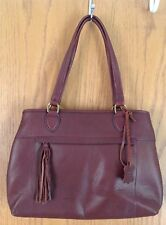 NWOT BROWN LEATHER PURSE WITH TASSLE, FROM KOHLS, BEAUTIFUL SOFT LEATHER