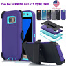 For Samsung Galaxy S7/Edge  Amor Hybrid Shockproof Case Cover with Belt Clip