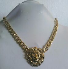 Gold Single Lion Head Necklace Fashion Jewelry