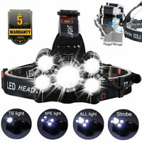 1000LM 5 LED CREE 1T6 4XPE Work Headlamp Headlight Flashlight Torch Lamp Light