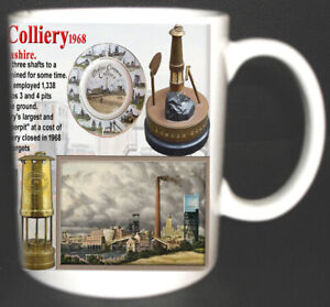 MOSLEY  COMMON COLLIERY COAL MINE MUG. LIMITED EDITION. MINERS, LANCASHIRE PITS