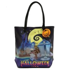 Loungefly Disney Nightmare Before Christmas Halloween Town Tote Bag WDTB1414