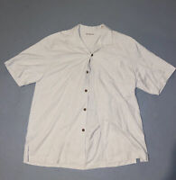 Tommy Bahama Button Down Shirt - Mens Large L - Beige