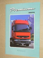 Catalogue Camion RENAULT Premium  RVI brochure prospectus Prospekt truck LKW