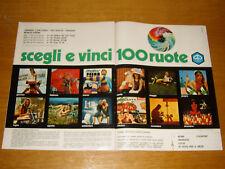 PIAGGIO VESPA GILERA BOXER CIAO CONCORSO 100 RUOTE 1972 CALENDARIO=PUBBLICITA