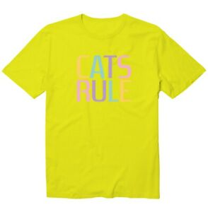 Colorful Cats Rule Everything Unisex Kid Girl Boy Youth Graphic T-Shirt