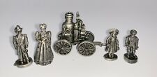 The American Pewter Collection 5 Figurines AH18 Fire Station Pumper Fireman