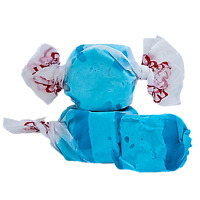 GOURMET BLUE RASPBERRY Salt Water Taffy Candy TAFFY TOWN 1/4-10 LB BAG FREE SHIP