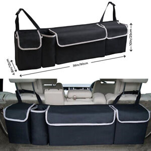 Car Trunk Organizer Car Interior Accessories Back Seat Storage Box Bag Accessory