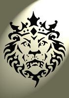 Shabby Chic Stencil Lion head Crown Mylar Vintage A4 297x210mm furniture wall