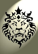 Shabby Chic A3 Stencil Lion head Crown Mylar Vintage 420x297mm furniture wall