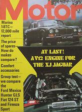 Motor 15/7/1972 featuring Jaguar V12, Ford Mexico, Hillman, Fiat, Vauxhall, Fiat