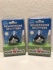 2 Penguin Headphone Splitters - Factory Sealed - New! Free Shipping!
