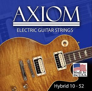Axiom Electric Guitar Strings 10-52 Made in USA