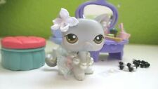 Littlest Pet Shop LPS Gray White Hazel Eyes Short Hair Cat Kitty #138 Authentic