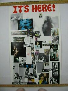 "THE BEATLES ""WHITE"" ALBUM ORIGINAL PROMOTIONAL POSTER 1968 APPLE"