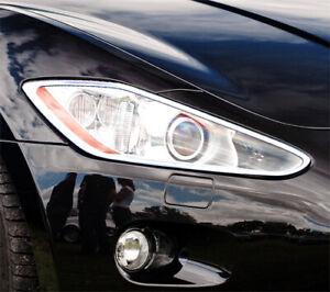 Chrome Head Light Trim Bezel Surrond Rim Cover For Maserati GranTurismo