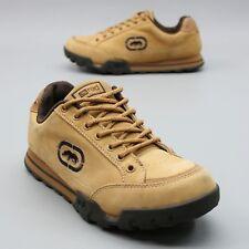 Marc Ecko Ladies 9 (39) Red Rhino Rhinestones Tan Nubuck Leather Trail Sneakers