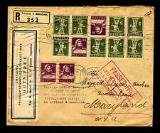 1934 BELA SEKULA REGISTERED COVER FROM SWITZERLAND - INDIAN HEAD, MD (ESP#L2099)