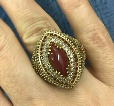 925 Sterling Silver Handmade Authentic Turkish Agate Ladies Ring Size 6-12