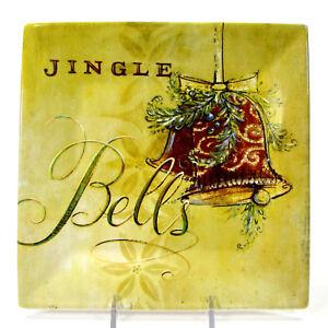 "Oneida SEASONS GREETINGS JINGLE BELLS 8"" Plate Angela Staehling Christmas"