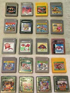 Nintendo Original Gameboy Games You Pick Mario Tetris Megaman DK Wario Kirby