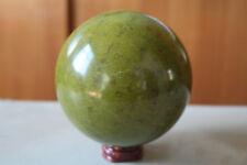 Bright Green JADE Crystal Sphere Peru Ball Awesome Serpentine Healing Beauty971G