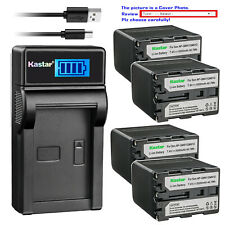 Kastar Battery LCD Charger for Sony NP-QM91D Cyber-shot DSC-F828 DSC-R1 DSC-S30
