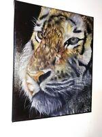 Peinture tableau a l`huile sur toile format 24/30 cm série animalière