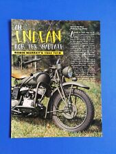 1943 Indian 741B WWII Motorcycle - Original 5 Page Article