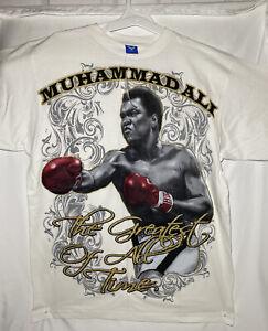 Muhamed Ali Shirt White Different Sizes Med- XXL