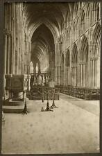 c1920 Photograph Nave, Lichfield Cathedral, Staffordshier, England Jean P Smith