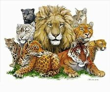 GREAT CATS - ANIMALS ART POSTER 24x36 - NATURE LION TIGER 36034