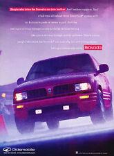 1996 Oldsmobile Bravada - Lumbar - Classic Vintage Advertisement Ad D114