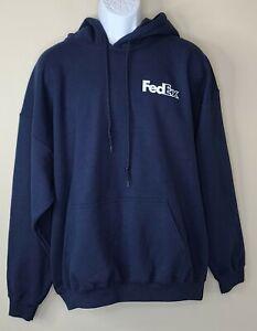 Fedex navy blue hoodie Sweatshirt XL new!