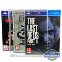 PS4 Game BOX PROTECTOR The Last Of Us Special Artbook 0.5mm PLASTIC DISPLAY CASE