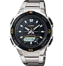 Casio Solar Analog/Digital Watch, 100 Meter, 5 Alarms, AQS800WD-1EV