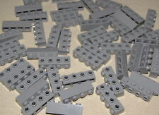 LEGO LOT OF 50 NEW LIGHT BLUISH GREY 1 X 4 MODIFIED BRICKS WITH 4 STUDS ON SIDE